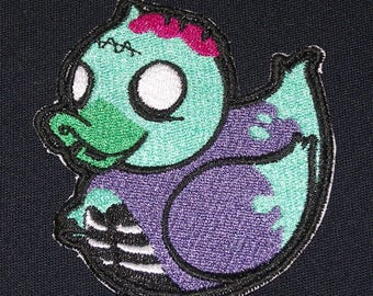 Embroidered Adorable Zombie Undead Girl Rubber Duckie Duck Patch Iron On Sew On USA