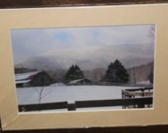 OOAK Matted North Georgia Mountain Snow on the Horse Stables