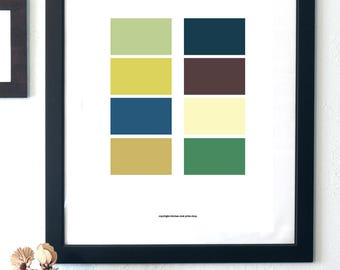 Abstract Earth Tones Print - Minimalist Wall Art -  digital printable product