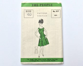 B40 1960s Dress Sewing Pattern : The People 917
