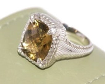 Judith Ripka Sterling Citrine Ring