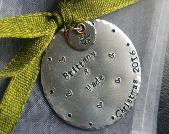 Hand-Stamped Personalized Ornament