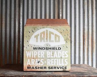 Vintage Trico Windshield Wiper Blades Advertising Display Case - Service Station
