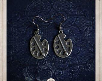 Paint PALETTES earrings in bronze BOB066