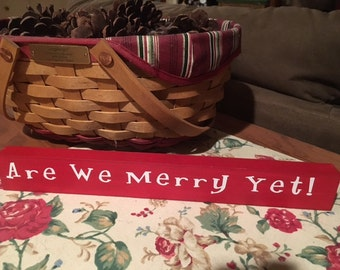 Are We Merry Yet, Wood Sign, Christmas Humor, Wood Sign, Christmas Wood Sign, Under Five, Coworker Gift, Stocking Stuffer, Christmas in July