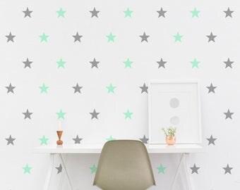 Star Wall Decal - 5cm Set of 25+ - Wall Sticker - Kids Wall Decal Pattern Nursery | PP107