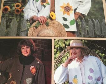 Leisure Arts Leaflet 1569 Seasonal Cardigans From Sweats
