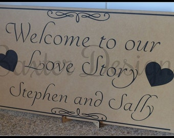 Welcome to the Wedding of Custom Personalised Wedding Signs