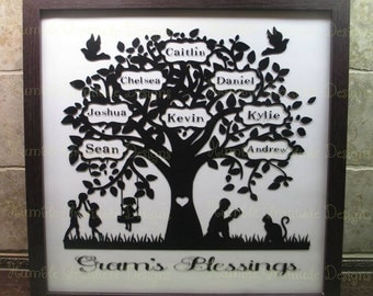 Family Tree - Personalized with up to 31 names - Family Heirloom
