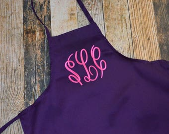 Monogrammed Apron - Lots of Colors to Choose From - Adult or Child size - Personalized Housewarming Gift