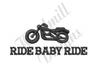 Motorcycle Baby Ride - Machine Embroidery Design
