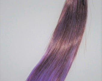 EGGPLANT Ombre Synthetic Doll Hair Weft for Wig Making