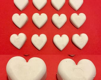 set of 12 chalks with hearts
