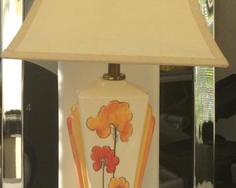 """Historical Collections """"Clarice Cliff"""" Art Deco Lamp."""