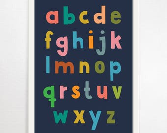 Alphabet Print, ABC Poster, Alphabet Poster, ABC Print, Kids Wall Art, Alphabet Wall Art, Large Alphabet Print, Kids Art, Alphabet, Wall Art