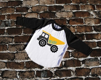 Construction Birthday Shirt | Boys Personalized Birthday Shirt | Digger | Front Loader | Excavator | Construction Theme Birthday Tshirt