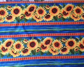 Wild Gold Sunflower Cotton Fabric