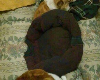 Burgundy pet bed