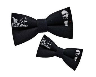 Men BowTies, The Godfather Bow Tie, Black Bow Tie, Movie bow tie, Godfather gift, Groomsman gift, Groom gift, Wedding bow tie, Gift for him