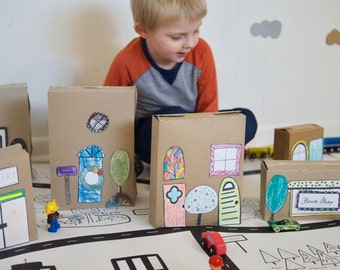 Neighborhood Play and Activity Kit, Love Your Neighbor, Paper House, Paper Town, Paper Playscape, DIY Toy