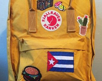 Patched Fjallraven Kanken Backpack