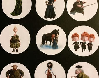 Precut Braveheart Character images to decorate your cupcakes, cookies or cake with.