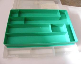 Embroidery Storage Box, Storage Container, Craft Supplies Organizer, Transparent Plastic Box, Storage Box with Lid, Cross Stitch Storage Box