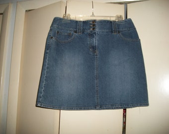 Vintage Ann Taylor LOFT Medium Wash Denim Skirt Size 6