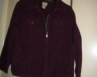 Vintage 90s Burgundy Cotton Jacket by Gander Mountain Size M