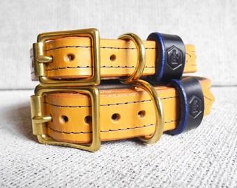 Luxury Leather Dog Collar - London Series (London Tan)