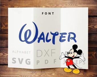 DISNEY FONT SVG cut files svg Disney alphabet dxf for Silhouette, Disney letters download for Cricut, cuttable vinyl fonts Disney monogram