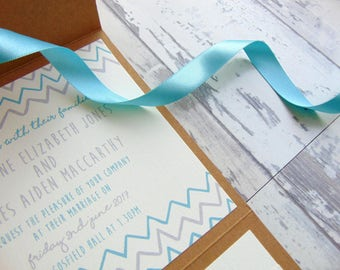 AMELIA wedding invitation with inserts *SAMPLE*