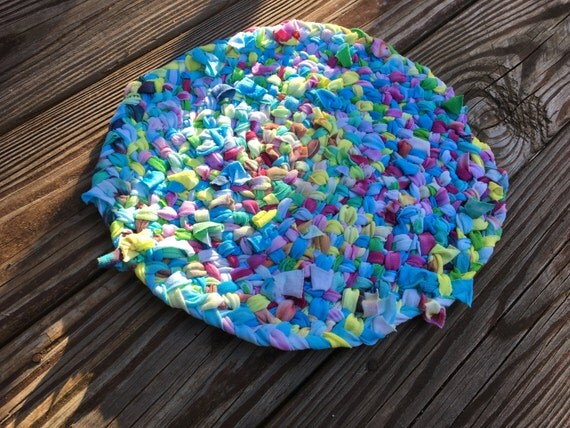 Oval Trivet Large Trivet from Upcycled Tiedye by PurpleBasset