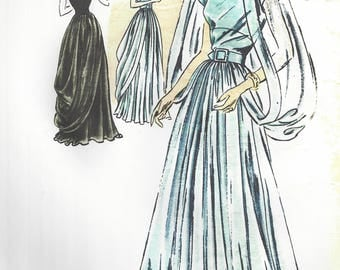"1946 Vintage VOGUE Sewing Pattern B36"" EVENING DRESS Gown (1255)  Vogue Couturier 310"