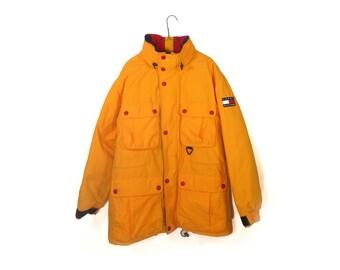 Yellow Tommy Hilfiger Down Filled Ski Jacket Size Large L