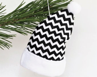 Black and White Christmas Tree Ornaments, Christmas Ornaments Personalized, Modern Holiday Ornaments, Modern Christmas Decoration, CIJ
