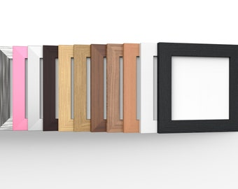 Handmade Classic Square Picture Photo Frames Wooden Effect 11 Colours Multiple sizes, Hang or Stand, Home Decor Gift