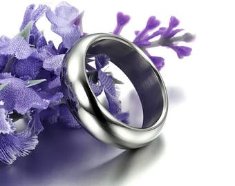 Glossy stainless steel ring available in sizes/size 8-9-11-12
