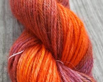 Hand-dyed 100% Alpaca Worsted weight yarn- Bezoar