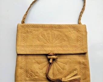 1920s Kidskin Leather Handbag/Purse