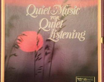 QUIET Music Listening RECORD ALBUM Set=Quiet Music Album Set by Reader's Digest=Vintage 1985 Record Albums=Music Notes & Easy Listening Set.