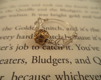 Golden Snitch Ring Harry Potter
