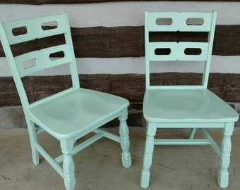 Forest Green Leaf Chairs