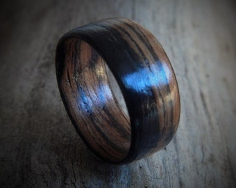 Extra Wide Wood Ring - Unisex Ring - Gift for Him - Couples Ring - Gift for Boyfriend - Rustic Wedding Ring - Friendship Ring - wooden ring
