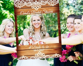 Large Bridal Shower Photo booth prop, Bridal Shower Photo Prop , Bridal Shower Photo booth frame , Rustic Bridal Shower prop, lace ;10011185