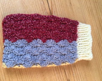 Cell phone sock, crocheted, knitted, suitable for iPhone 5 or similar