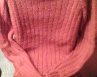 Hand knit sweater in stripes