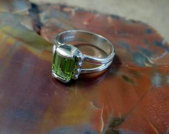 Darling 1 carat Peridot Ring 1223
