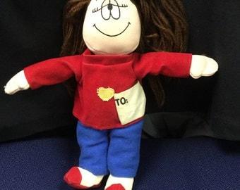 Vintage Ganz Cathy Cartoon Strip Character Cloth  Doll