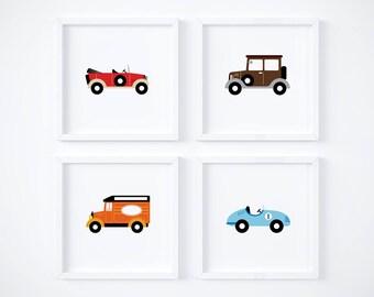 Classic Cars Printables - Vintage Cars Printables - Race Car - Nursery Decor - Boys Room Decor - Baby Print - Nursery Print - Digital Print